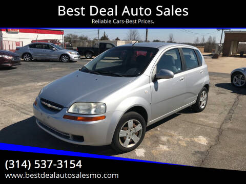 2008 Chevrolet Aveo for sale at Best Deal Auto Sales in Saint Charles MO