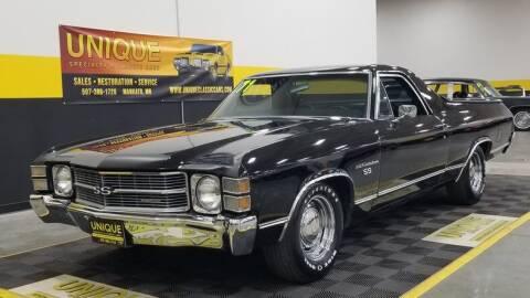 1971 Chevrolet El Camino for sale at UNIQUE SPECIALTY & CLASSICS in Mankato MN