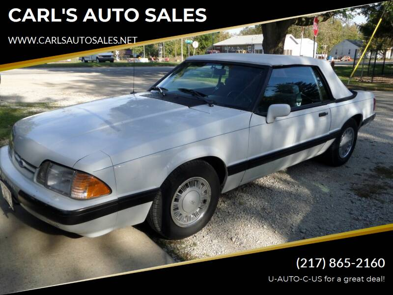 1988 Ford Mustang for sale at CARL'S AUTO SALES in Boody IL