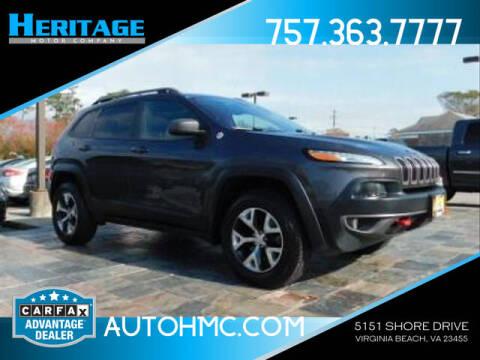 2015 Jeep Cherokee for sale at Heritage Motor Company in Virginia Beach VA