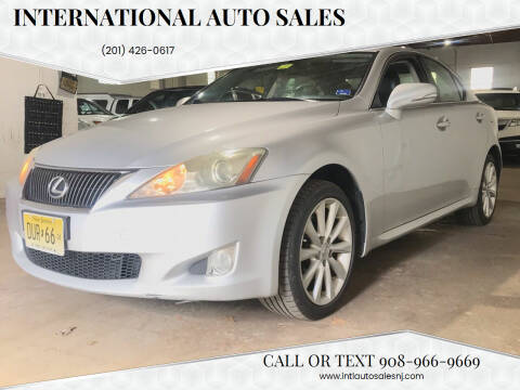 2009 Lexus IS 250 for sale at International Auto Sales in Hasbrouck Heights NJ