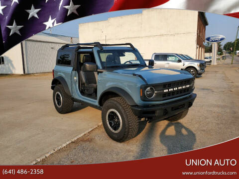 2021 Ford Bronco for sale at Union Auto in Union IA