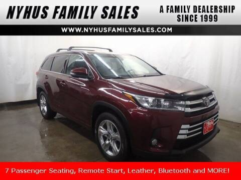 2018 Toyota Highlander for sale at Nyhus Family Sales in Perham MN