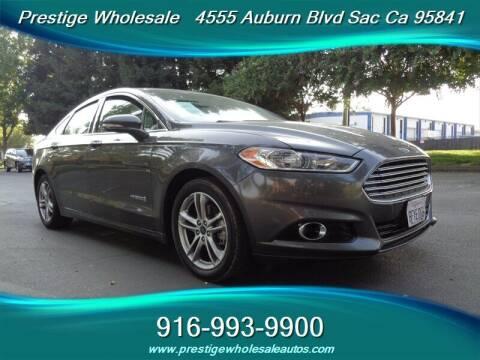 2016 Ford Fusion Hybrid for sale at Prestige Wholesale in Sacramento CA