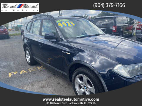 2007 BMW X3 for sale at Real Steel Automotive in Jacksonville FL