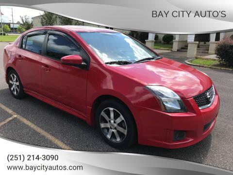 2012 Nissan Sentra for sale at Bay City Auto's in Mobile AL