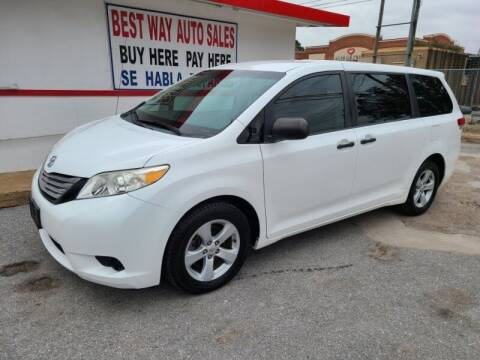 2011 Toyota Sienna for sale at Best Way Auto Sales II in Houston TX
