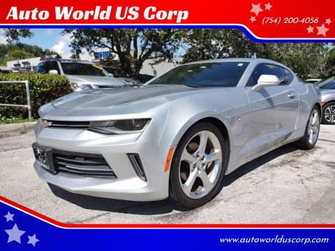 2018 Chevrolet Camaro for sale at Auto World US Corp in Plantation FL