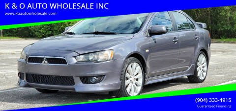 2008 Mitsubishi Lancer for sale at K & O AUTO WHOLESALE INC in Jacksonville FL