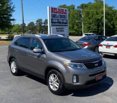 2015 Kia Sorento for sale at Reliable Cars & Trucks LLC in Raleigh NC