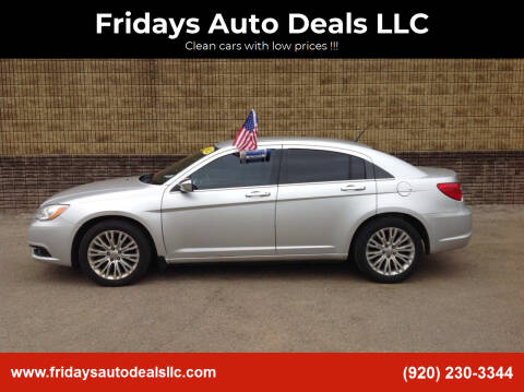 2012 Chrysler 200 for sale at Fridays Auto Deals LLC in Oshkosh WI