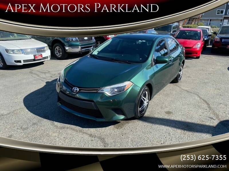 2016 Toyota Corolla for sale at Apex Motors Parkland in Tacoma WA