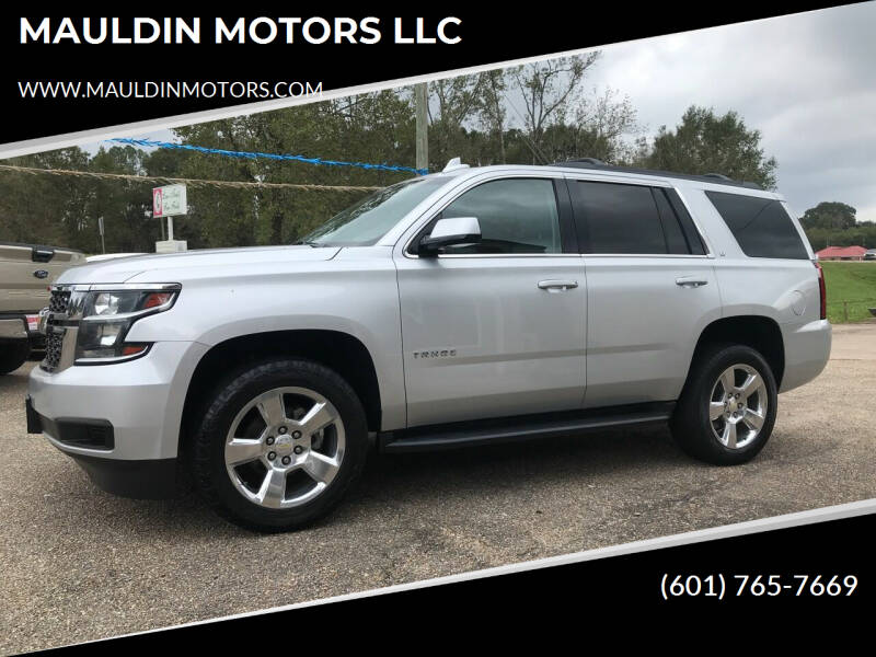 2016 Chevrolet Tahoe for sale at MAULDIN MOTORS LLC in Sumrall MS