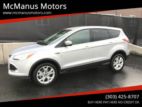 2013 Ford Escape for sale at McManus Motors in Wheat Ridge CO