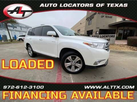 2012 Toyota Highlander for sale at AUTO LOCATORS OF TEXAS in Plano TX