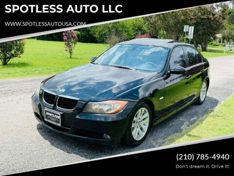 2008 BMW 3 Series for sale at SPOTLESS AUTO LLC in San Antonio TX