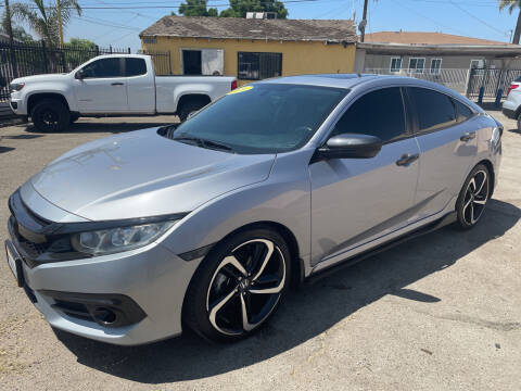 2016 Honda Civic for sale at JR'S AUTO SALES in Pacoima CA