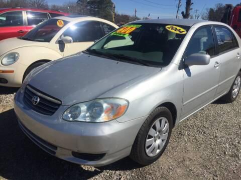 2004 Toyota Corolla for sale at McAllister's Auto Sales LLC in Van Buren AR