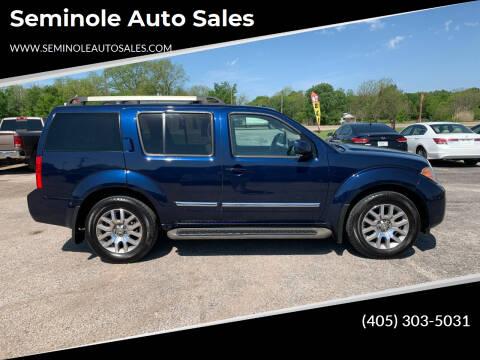 2010 Nissan Pathfinder for sale at Seminole Auto Sales in Seminole OK