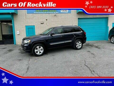2011 Jeep Grand Cherokee for sale at Cars Of Rockville in Rockville MD