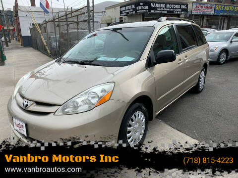 2006 Toyota Sienna for sale at Vanbro Motors Inc in Staten Island NY