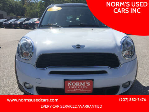 2012 MINI Cooper Countryman for sale at NORM'S USED CARS INC in Wiscasset ME