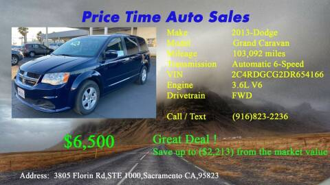 2013 Dodge Grand Caravan for sale at PRICE TIME AUTO SALES in Sacramento CA