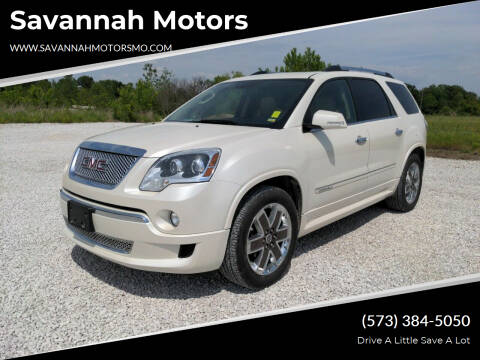 2012 GMC Acadia for sale at Savannah Motors in Elsberry MO