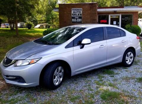 2013 Honda Civic for sale at Progress Auto Sales in Durham NC