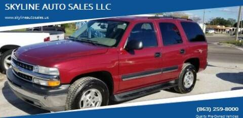 2004 Chevrolet Tahoe for sale at SKYLINE AUTO SALES LLC in Winter Haven FL