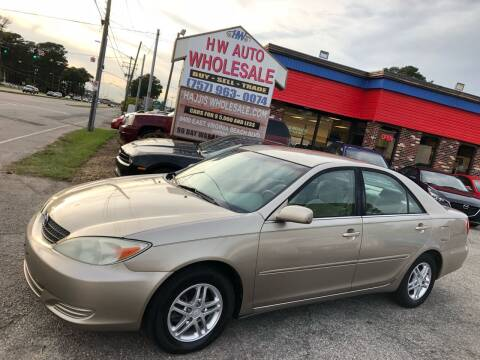 2002 Toyota Camry for sale at HW Auto Wholesale in Norfolk VA