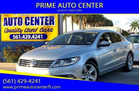 2015 Volkswagen CC for sale at PRIME AUTO CENTER in Palm Springs FL