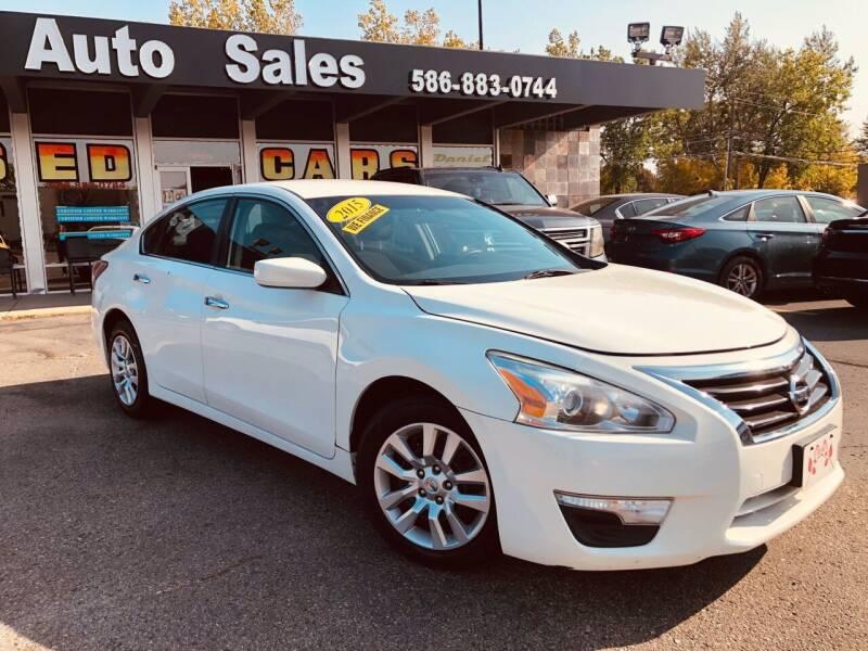 2015 Nissan Altima for sale at Daniel Auto Sales inc in Clinton Township MI