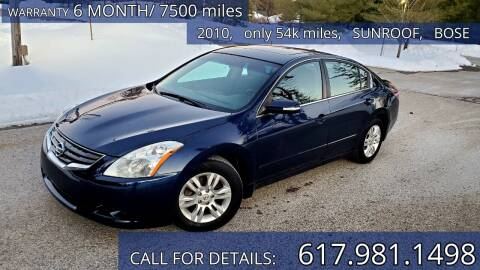 2010 Nissan Altima for sale at Wheeler Dealer Inc. in Acton MA