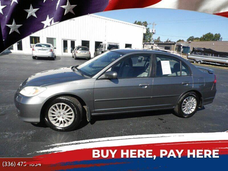 2005 Honda Civic for sale at CAROLINA MOTORS in Thomasville NC