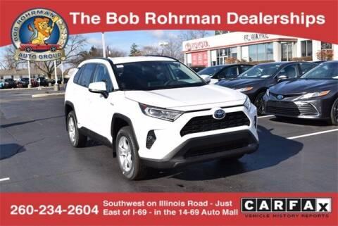 2021 Toyota RAV4 Hybrid for sale at BOB ROHRMAN FORT WAYNE TOYOTA in Fort Wayne IN