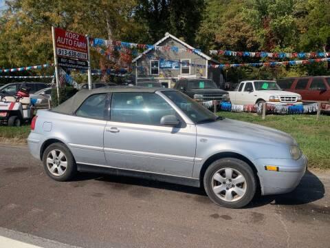 2002 Volkswagen Cabrio for sale at Korz Auto Farm in Kansas City KS