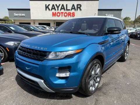 2012 Land Rover Range Rover Evoque for sale at KAYALAR MOTORS in Houston TX