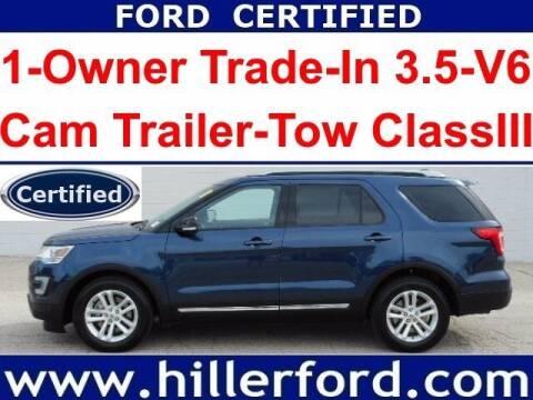 2017 Ford Explorer for sale at HILLER FORD INC in Franklin WI