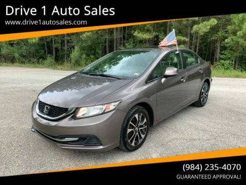 2013 Honda Civic for sale at Drive 1 Auto Sales in Wake Forest NC