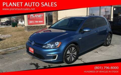 2016 Volkswagen e-Golf for sale at PLANET AUTO SALES in Lindon UT