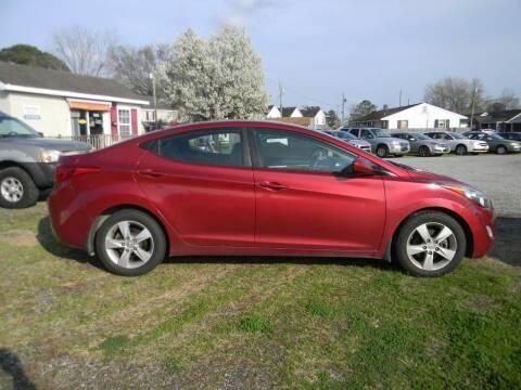 2013 Hyundai Elantra for sale at SeaCrest Sales, LLC in Elizabeth City NC