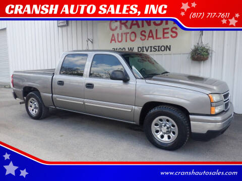 2007 Chevrolet Silverado 1500 Classic for sale at CRANSH AUTO SALES, INC in Arlington TX