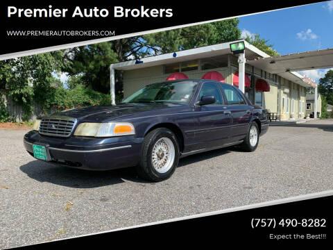 2001 Ford Crown Victoria for sale at Premier Auto Brokers in Virginia Beach VA