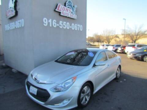 2014 Hyundai Sonata Hybrid for sale at LIONS AUTO SALES in Sacramento CA