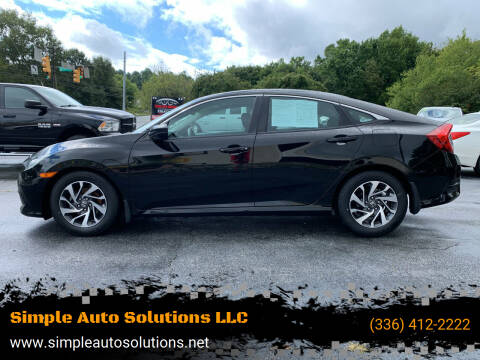 2016 Honda Civic for sale at Simple Auto Solutions LLC in Greensboro NC