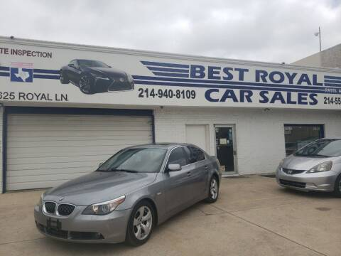 2007 BMW 5 Series for sale at Best Royal Car Sales in Dallas TX