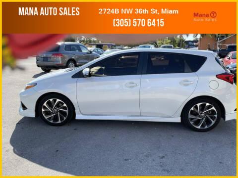 2017 Toyota Corolla iM for sale at MANA AUTO SALES in Miami FL