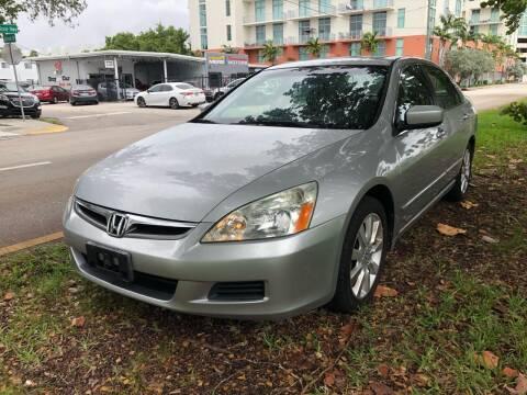 2007 Honda Accord for sale at Meru Motors in Hollywood FL