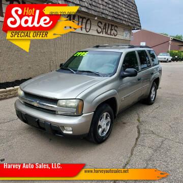 2003 Chevrolet TrailBlazer for sale at Harvey Auto Sales, LLC. in Flint MI